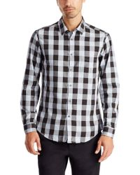 BOSS Green - Black 'c-bua' | Regular Fit, Cotton Button Down Shirt for Men - Lyst