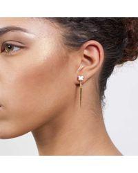 Dutch Basics   Metallic Porcelain Point Earrings White   Lyst