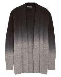 Vince | Gray Ombrè Wool And Cashmere-Blend Cardigan | Lyst