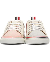 Thom Browne - Multicolor Tricolor Canvas Low-top Sneakers for Men - Lyst