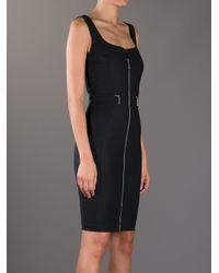 Lyst Elisabetta Franchi Sleeveless Zip Dress In Black