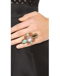 Erickson Beamon | Brown Cosmic Code Ring Pink Multi | Lyst