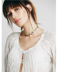 Free People - White Womens Fp One Morning Light Top - Lyst