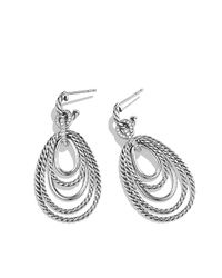 David Yurman | Metallic Mobile Drop Earrings With Diamonds | Lyst
