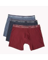 Tommy Hilfiger | Red Cotton 3-pack Boxer Brief for Men | Lyst