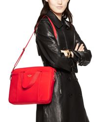 Kate Spade | Red Classic Nylon Commuter Laptop Bag | Lyst