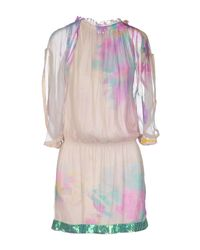 Patrizia Pepe - Purple Short Dress - Lyst