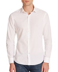 Ralph Lauren Black Label | White Sloan Poplin Sportshirt for Men | Lyst