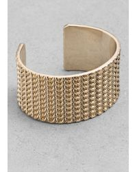 & Other Stories | Metallic Braided Brass Cuff | Lyst