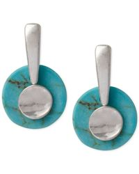 Robert Lee Morris | Blue Silver-tone Semi-precious Turquoise Stacked Drop Earrings | Lyst