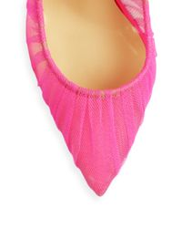 Christian Louboutin | Pink Tulle Point-toe Pumps | Lyst