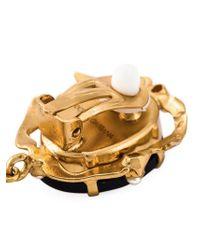 Dolce & Gabbana   Black Cameo Earrings   Lyst