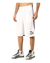 "PUMA | White 12"" Hoops Shorts for Men 