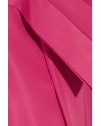 Oscar de la Renta | Pink Bow-Embellished Silk-Faille Dress | Lyst