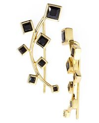 Marcia Moran | Black Crystal Ear Cuffs | Lyst