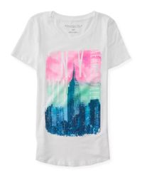 Aéropostale | Multicolor N.y. Sparkle City Graphic T | Lyst