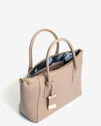 Ted Baker   Natural Large Leather Tote Bag   Lyst