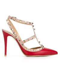 Valentino | Red 'rockstud' Pumps | Lyst