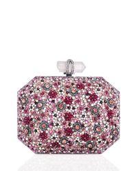 Marchesa - Multicolor Iris Beaded Box Clutch Bag - Lyst