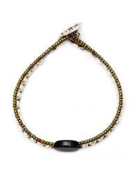 Ziio - Metallic Polis Mini Multi-beaded Pearl Bracelet - Lyst