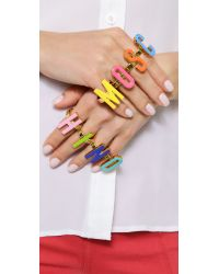 Moschino - Multicolor Rings - Multi - Lyst