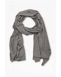 French Connection | Gray Walter Linen-blend Scarf for Men | Lyst