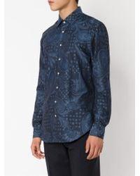 Etro - Blue Woven Paisley Shirt for Men - Lyst