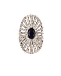 Elise Dray - Diamond, Onyx & White-Gold Antoinette Pinky Ring - Lyst
