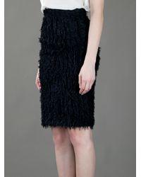 Balenciaga | Black Diamond-Panel Skirt | Lyst