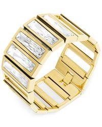 Swarovski | Metallic Brancusi Gold-Tone Bracelet | Lyst