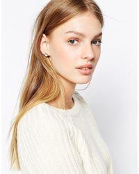 Ted Baker | Metallic Jowelle Crystal Stud Earrings | Lyst