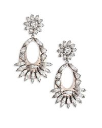 DANNIJO | Metallic Blanca Crystal Drop Earrings | Lyst