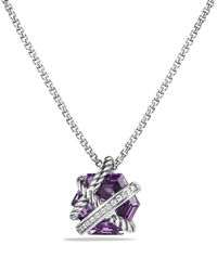 David Yurman | Metallic Petite Cable Wrap Necklace With Amethyst And Diamonds | Lyst