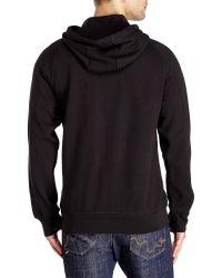 DKNY - Black Graphic Logo Fleece Hoodie for Men - Lyst