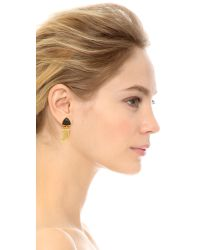 Lizzie Fortunato | Metallic Onyx Talisman Earrings | Lyst