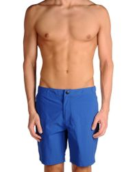 Paul Smith - Blue Swimming Trunk for Men - Lyst