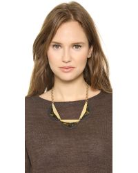 Madewell - Metallic Resin Colorcraft Statement Necklace Rustic Twig - Lyst