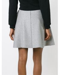 MSGM - Gray Pleated Circle Skirt - Lyst