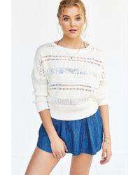 Kimchi Blue | White Brodie Open-stitch Sweater | Lyst