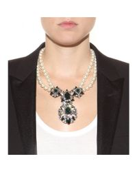 Shourouk - Green Swan Crystal-Embellished Necklace - Lyst