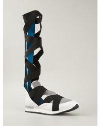 Vionnet - White Crossed Strap Sneaker Boots - Lyst