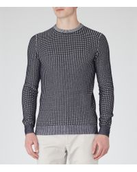 Reiss | Blue Foal Contrast Weave Jumper for Men | Lyst