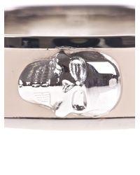 Alexander McQueen - Natural Brass Skull Bracelet - Lyst