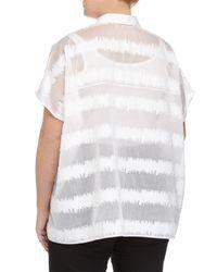 ESCADA - White High-waist Wide-leg Trousers - Lyst