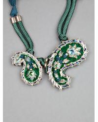 Lanvin - Green 'udaipur' Paisley Choker - Lyst