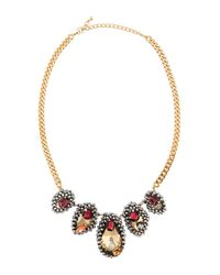 Fragments | Red Jewel-encrusted Station Necklace | Lyst