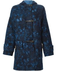 Valentino - Blue 'camubutterfly' Coat - Lyst
