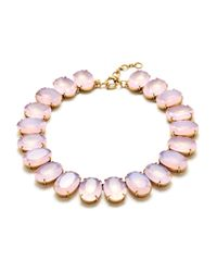 J.Crew | Pink Iced Quartz Necklace | Lyst