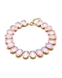 J.Crew | Pink Iced Quartz Necklace | Lyst