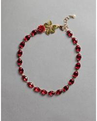 "Dolce & Gabbana - Red ""rhinestone"" Necklace - Lyst"